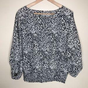Michael Kors dolman sleeve 100% silk blouse
